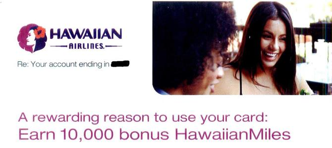 10,000 Hawaiian Airlines Bonus Miles